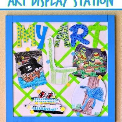 DIY Art Display Station #MakeAmazing
