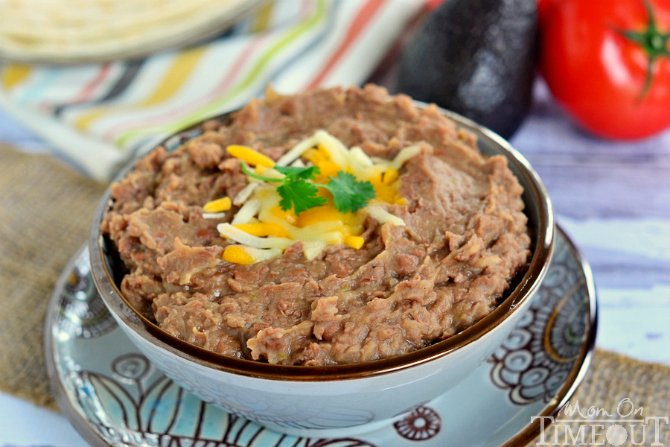 ... Slow Cooker Refried Beans (without the refry!) | MomOnTimeout.com