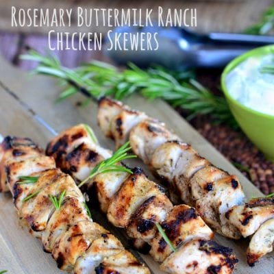 Rosemary Buttermilk Ranch Chicken Skewers