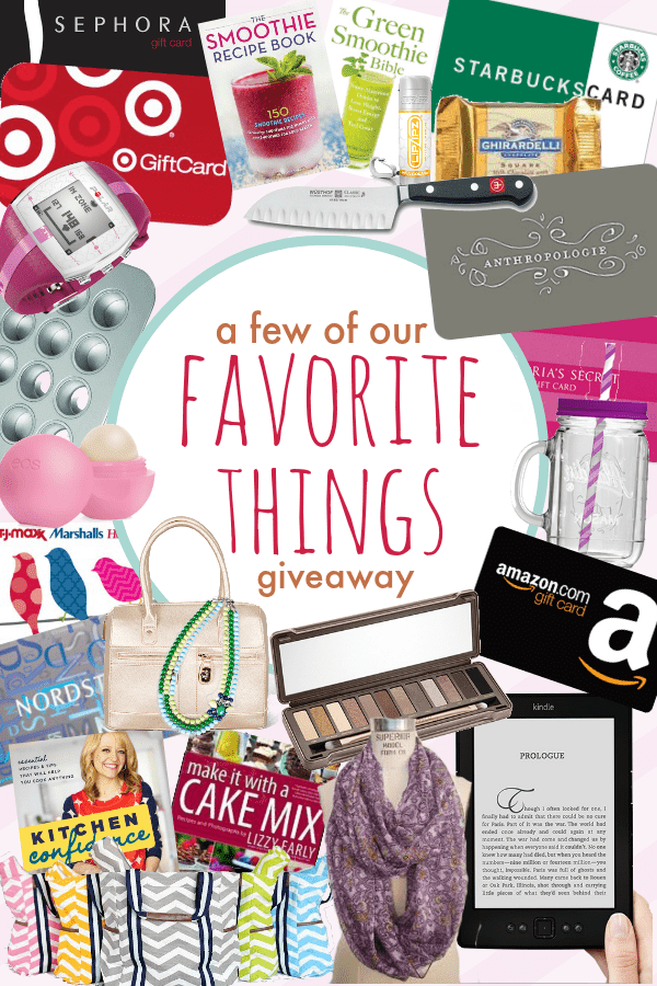A Few of Our Favorite Things Giveaway at MomOnTimeout.com Ends 5.10.14