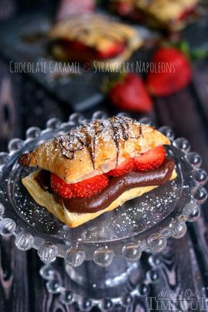 chocolate-caramel-and-strawberry-napoleons