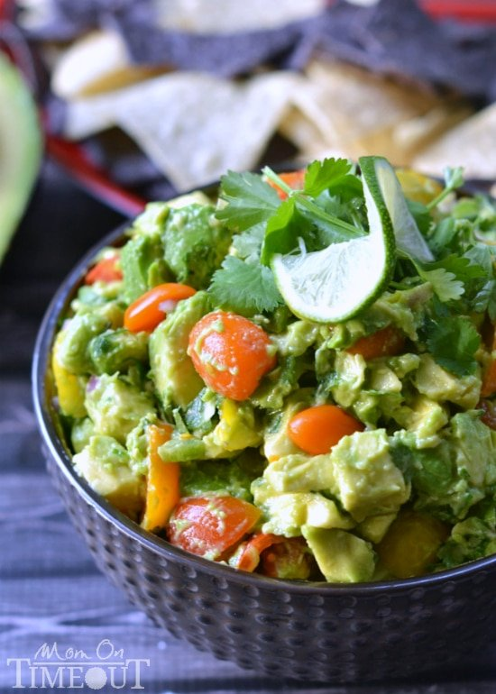 This Chunky Avocado Salsa is a must-have at any party! | MomOnTimeout.com