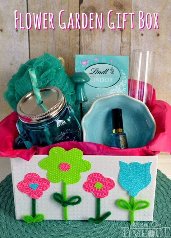 Flower Garden Gift Box - perfect for Mother's Day, Birthdays, Graduation and more! | MomOnTimeout.com #MakeAmazing