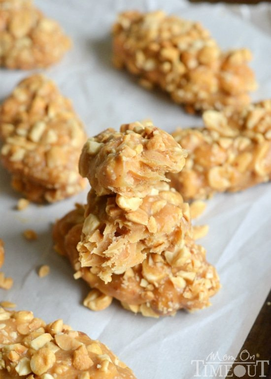 No-Bake, Easy, Totally Nutty Peanut Butter Candy Bars | MomOnTimeout.com