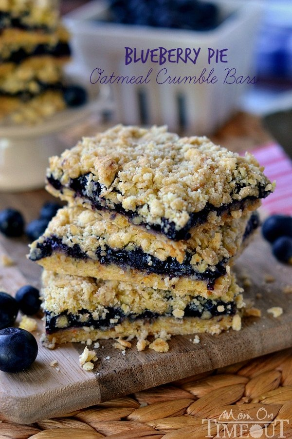 make pie when you can enjoy these Blueberry Pie Oatmeal Crumble Bars ...