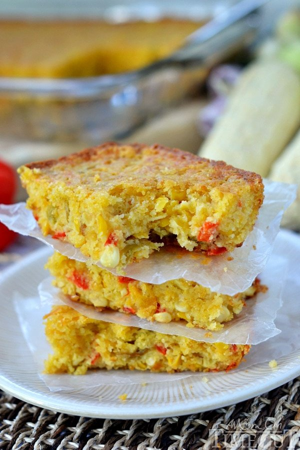 Perfectly moist and bursting with fresh flavor, this cornbread really is The Best Cheesy Mexican Cornbread!   MomOnTimeout.com #ad