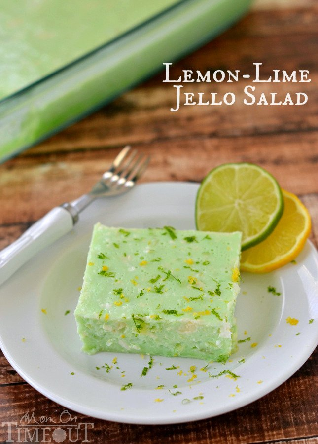 This Delicious Lemon Lime Jello Salad Is Made With Cottage Cheese And Pineapple