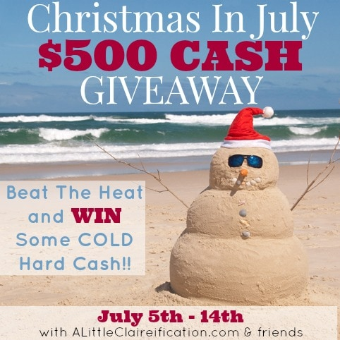 Christmas In July $500 Paypal Cash Giveaway! | MomOnTimeout.com