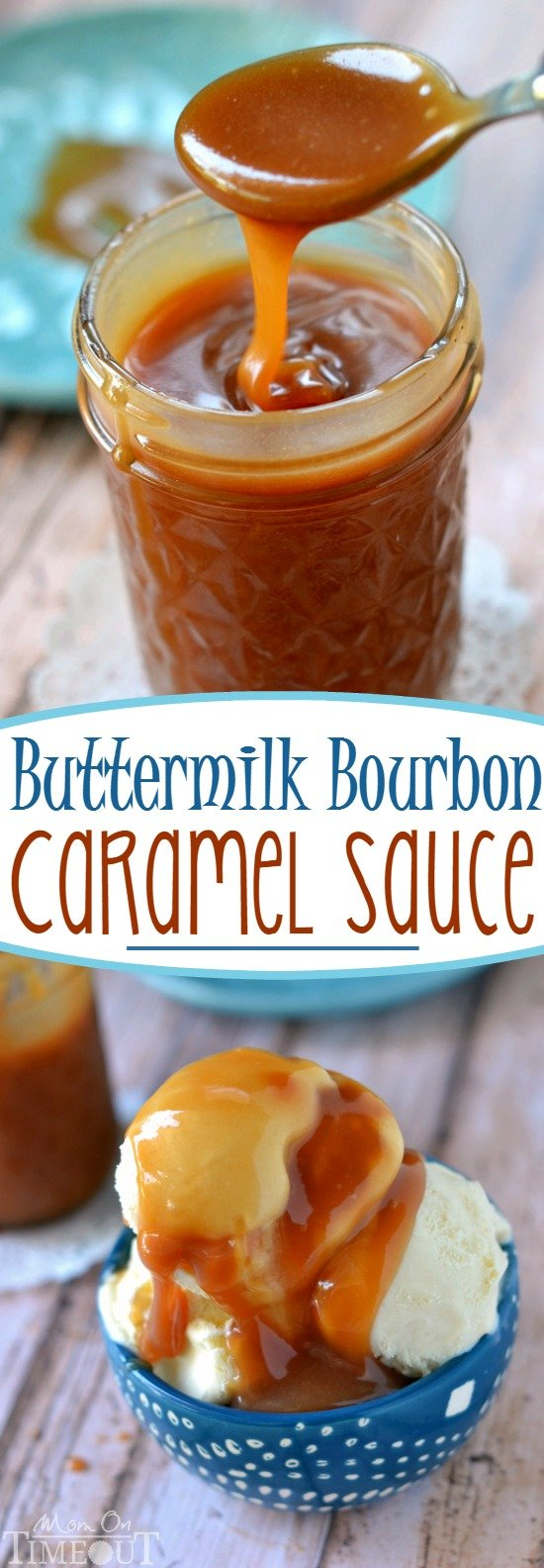 You may never buy caramel sauce again after you make this incredible Buttermilk Bourbon Caramel Sauce - bourbon optional! A delicious and easy topping for all things dessert!