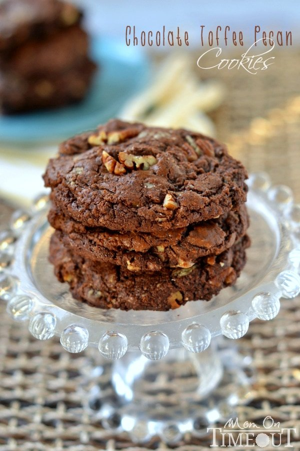rich and fudgy, these bakery-style Chocolate Toffee Pecan Cookies ...
