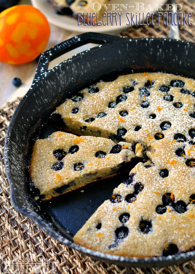 Oven-Baked Blueberry Skillet Pancake - Mom On Timeout