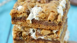 Reese's Peanut Butter S'mores Oatmeal Cookie Bars