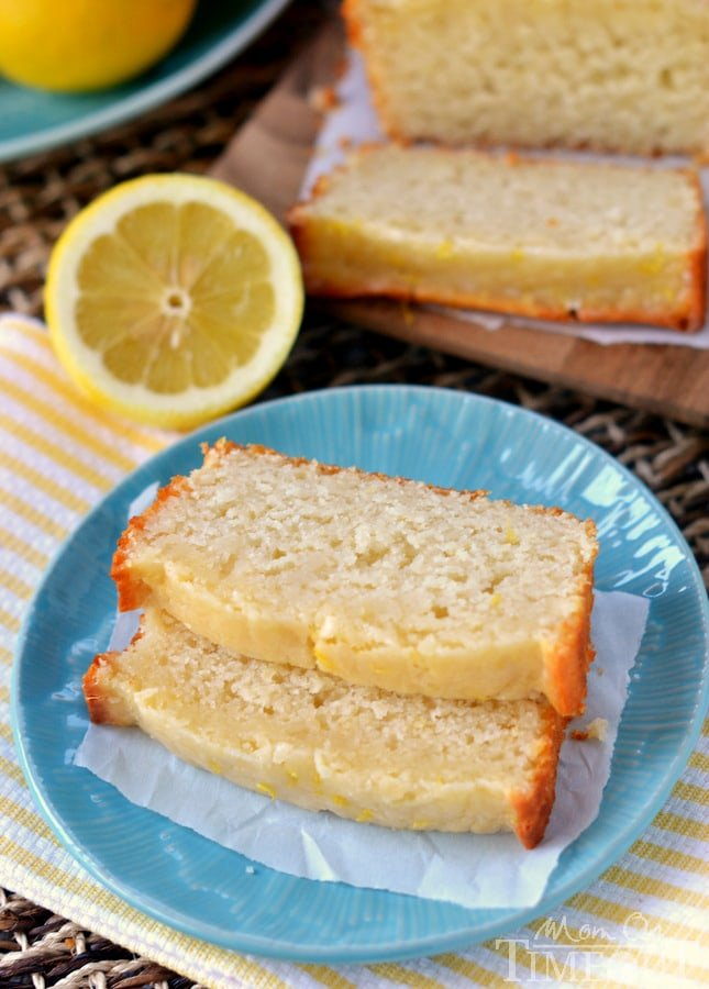 Glazed Light Lemon Bread made with buttermilk and coconut oil! | MomOnTimeout.com
