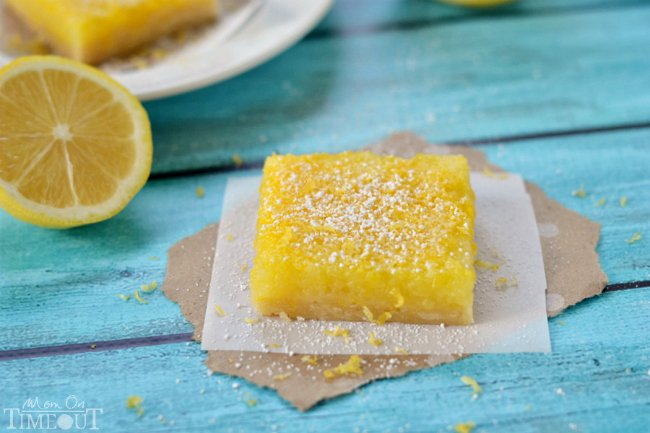 Microwave Lemons Bars are perfectly sweet with loads of tart lemon flavor! | MomOnTimeout.com