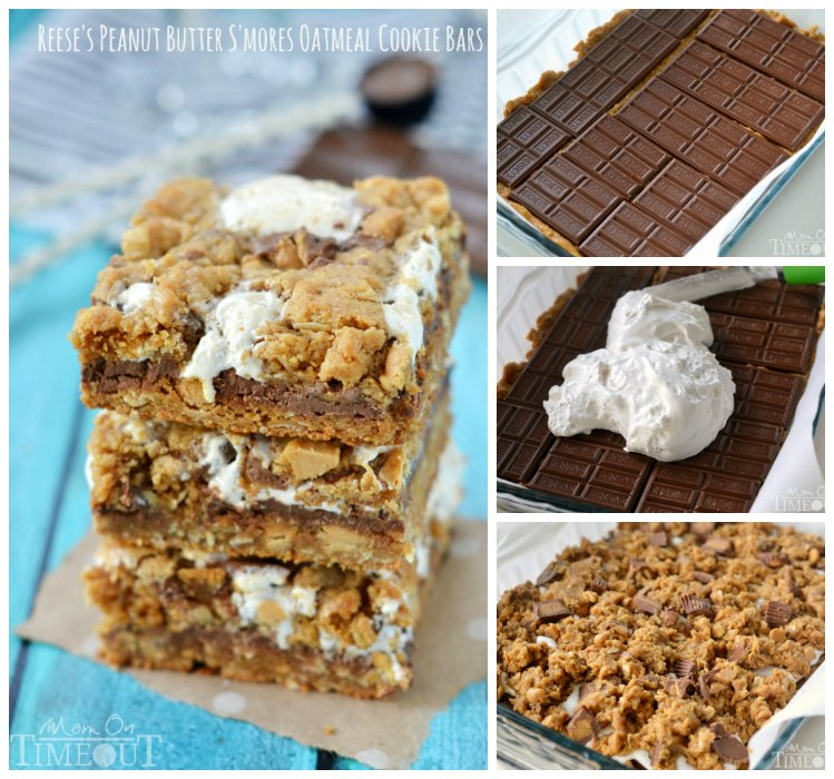reeses-peanut-butter-smores-cookies-bars-collage