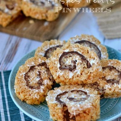 S'mores Rice Krispies Treats Pinwheels