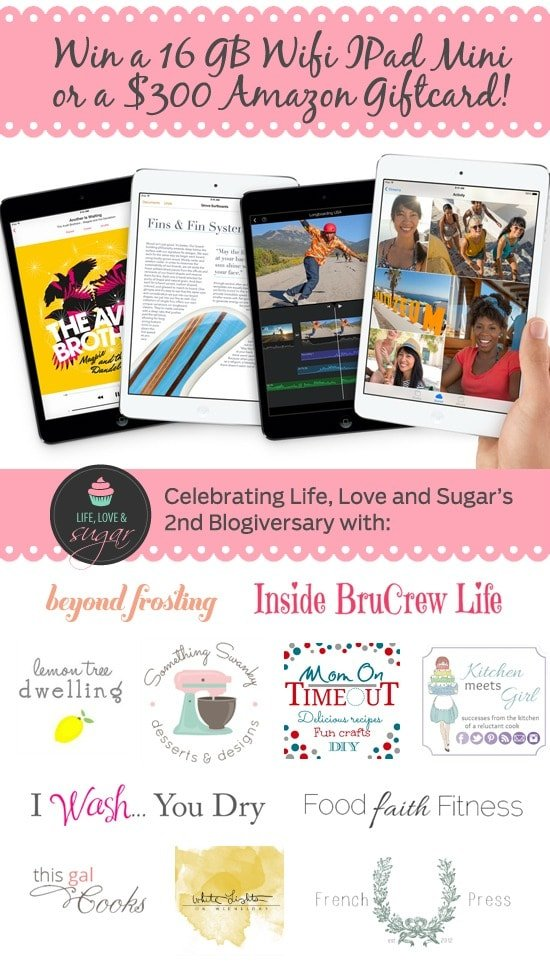Giveaway! Win a 16 GB Wifi iPad Mini or a $300 Amazon Gift Card | MomOnTimeout.com