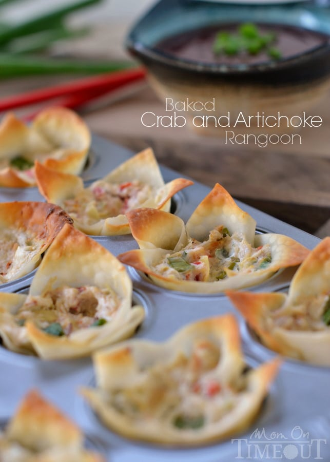 Baked Crab and Artichoke Rangoon are an amazingly creamy and savory ...