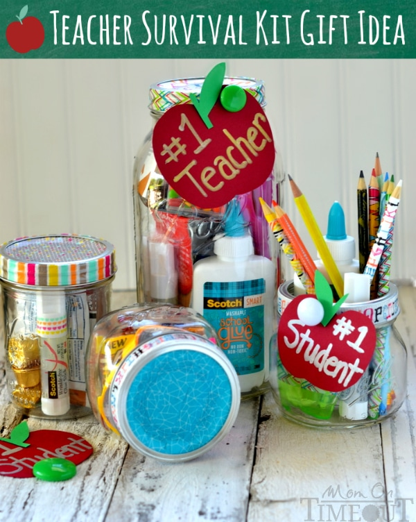 Teacher Survival Kit Gift Idea - perfect for back to school or Teacher Appreciation week! | MomOnTimeout.com | #staples #MakeAmazing #ad #teacher