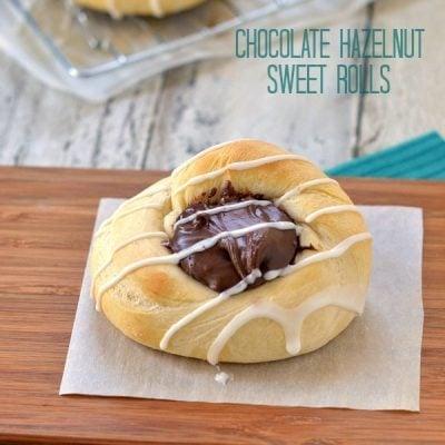 Chocolate Hazelnut Sweet Rolls