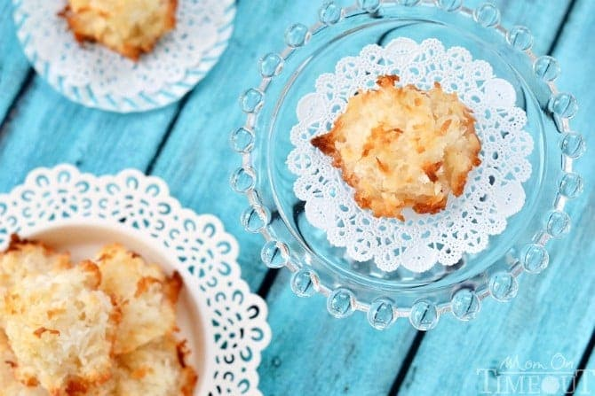 golden brown coconut macaroons