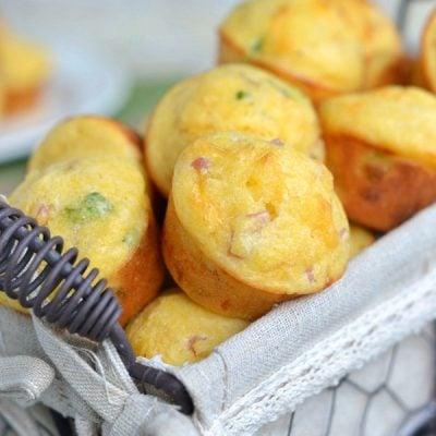 Ham and Cheese Mini Corn Muffins