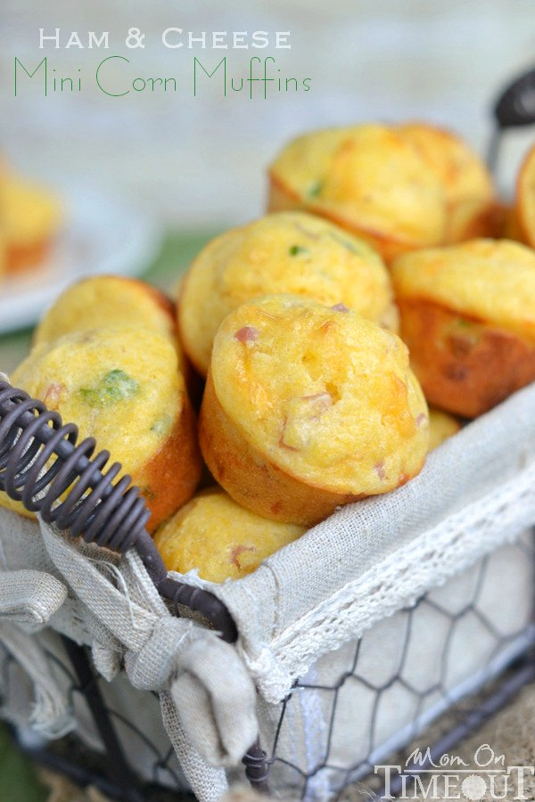 Ham and Cheese Mini Corn Muffins - Mom On Timeout