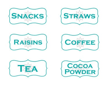 snacks-straws-raisins-coffee-tea-cocoa-powder