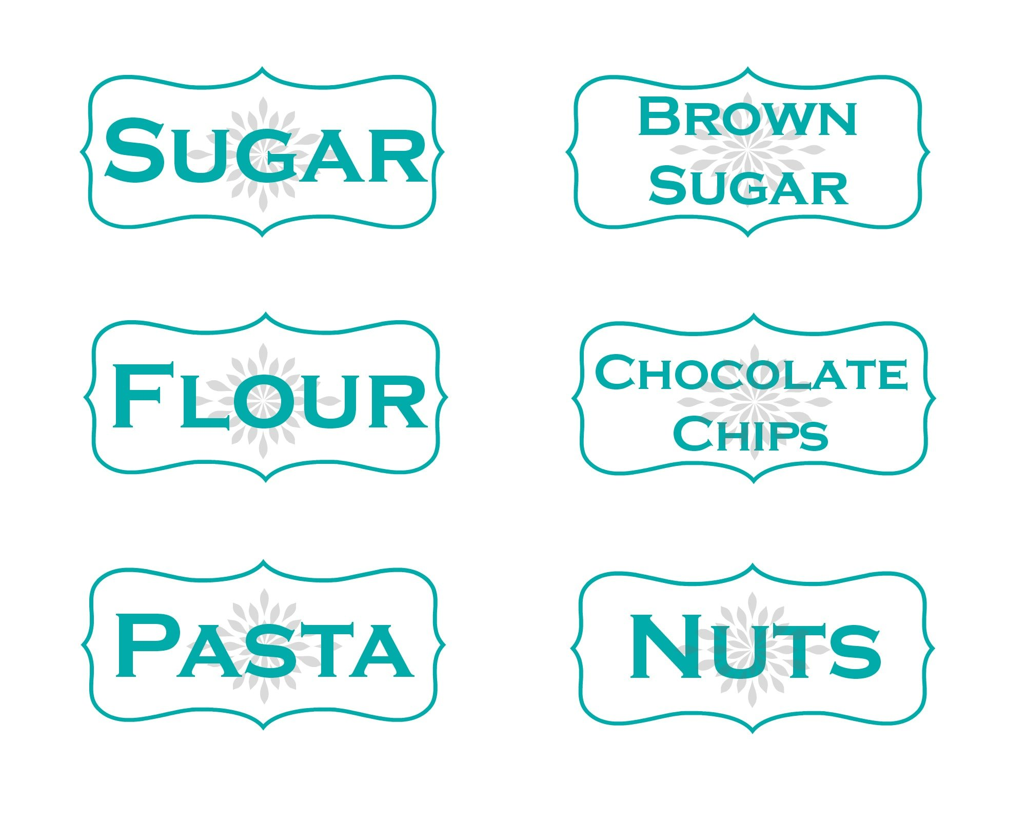 Kitchen Storage Container Labels - Free Printables! - Mom On Timeout