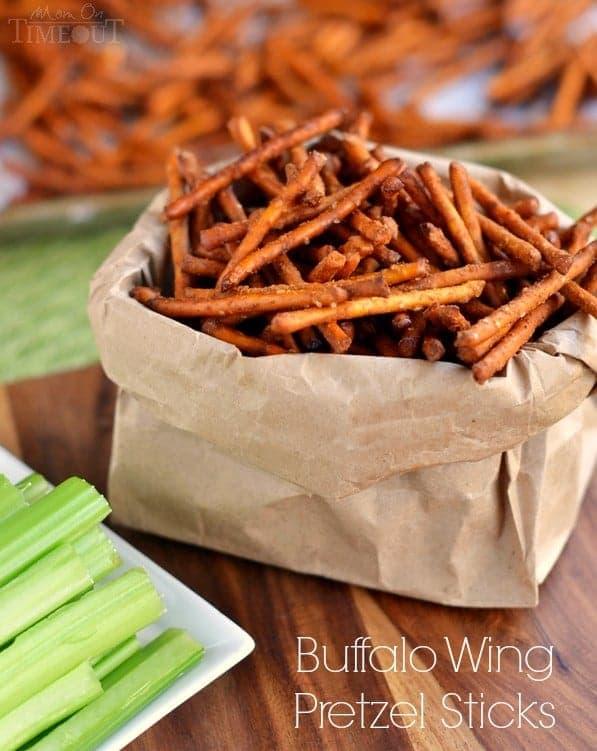 Buffalo Wing Pretzel Sticks | 14 Crowd-Pleasing Super Bowl Appetizers