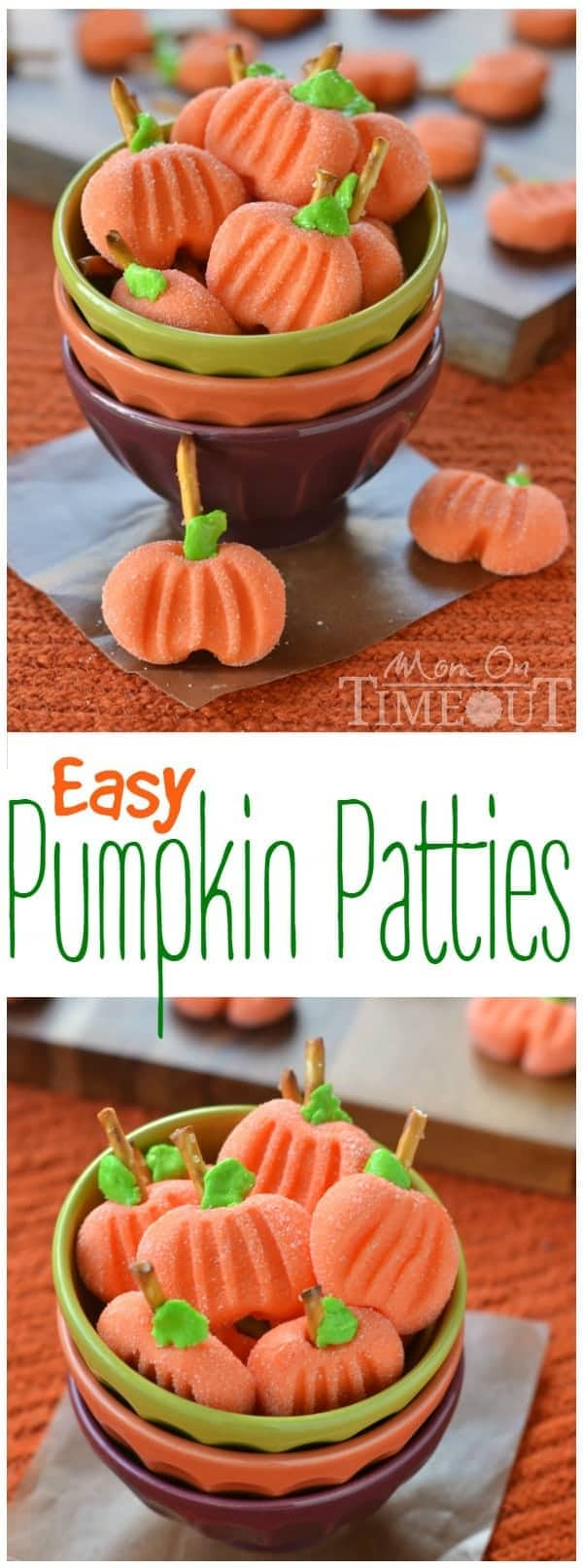 Delightfully easy Pumpkin Patties are the perfect no-bake treat to celebrate the season with. The cute factor here is off the charts! Great for Halloween and Thanksgiving!