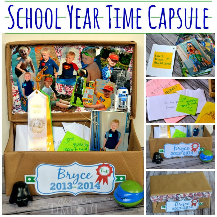 This School Year Time Capsule is a fun and creative way to preserve all those special memories that are created all year long! | MomOnTimeout.com | #MakeAmazing #school