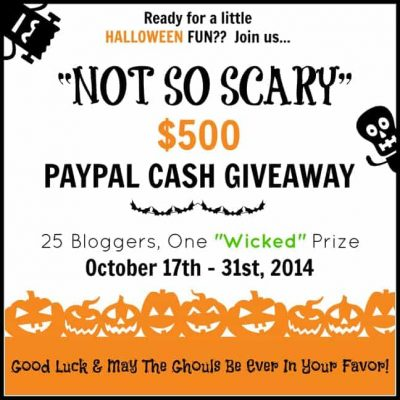 Not So Scary Halloween Giveaway | $500 Paypal Cash!