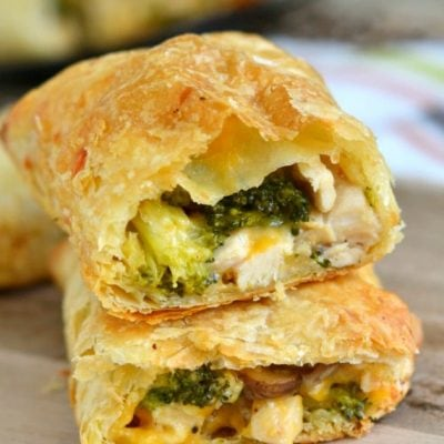 Cheesy Chicken and Broccoli Puffs