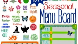 DIY Seasonal Menu Board