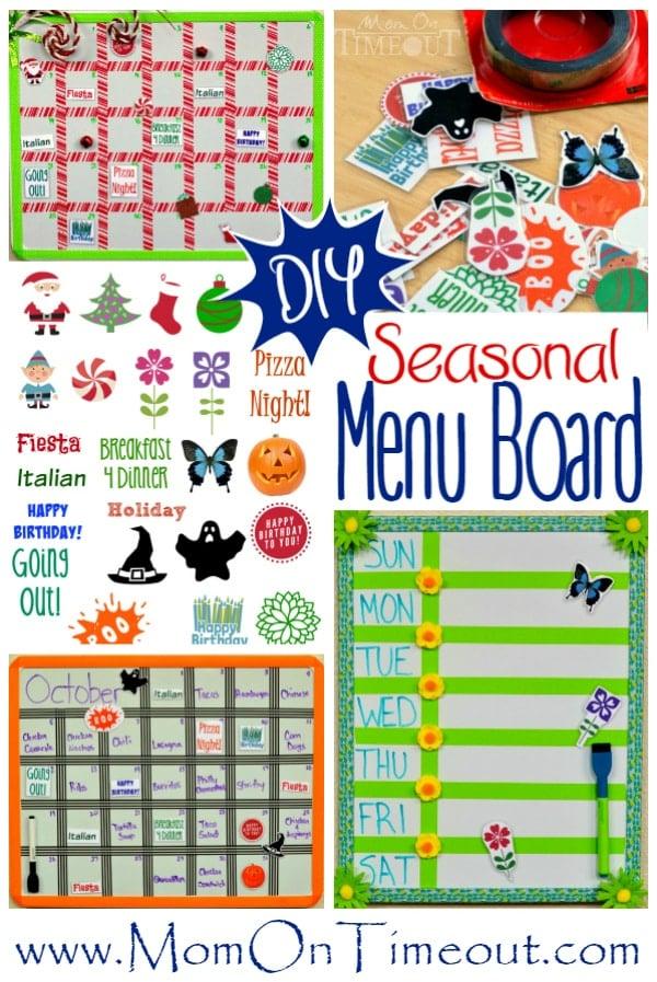 This easy DIY Seasonal Menu Board is perfect for meal planning ...