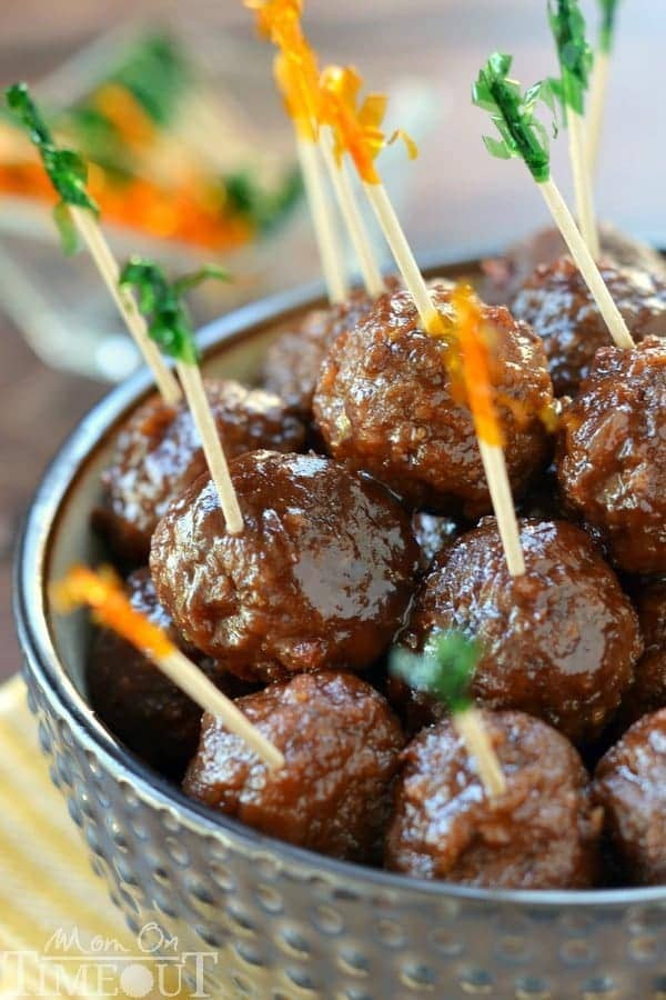 These Slow Cooker Cocktail Meatballs are made with just three ...
