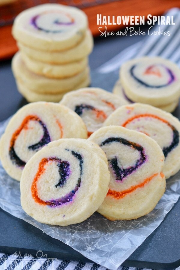 These Halloween Spiral Slice and Bake Cookies are the perfect, easy ...