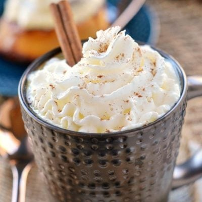 Slow Cooker Spiced White Hot Chocolate