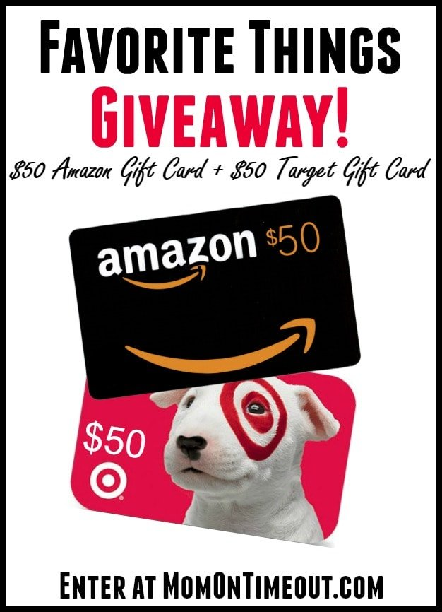 Favorite Things Giveaway: $50 Amazon + $50 Target Gift Cards at MomOnTimeout.com Ends 11.22.14