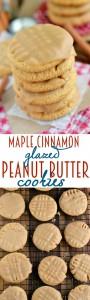 maple-cinnamon-glazed-peanut-butter-cookies-collage