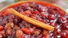 Slow Cooker Spiced Cranberry Chutney