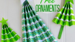 Easy Accordion Tree Ornaments Craft