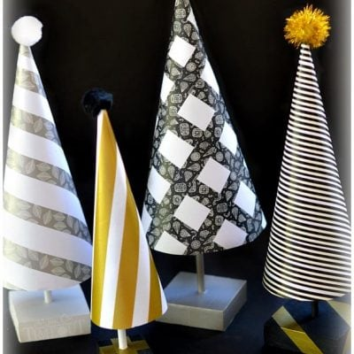 Easy DIY Paper Cone Trees