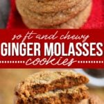 ginger molasses cookies collage