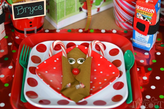 The BEST Kids Christmas Table EVER! This table will have everyone wishing they were a kid again! | MomOnTimeout.com | #christmas #kids #craft #spon