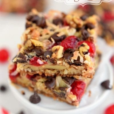 Cherry Coconut Magic Bars