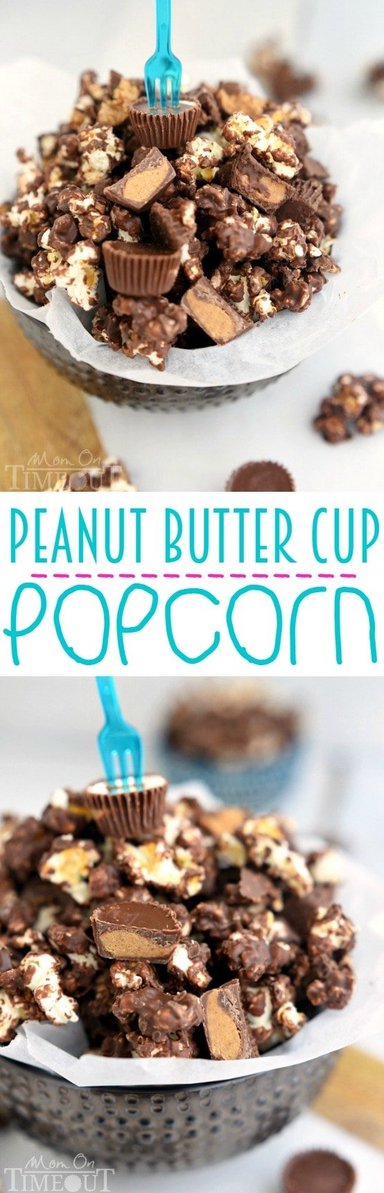 love this Peanut Butter Cup Popcorn with an explosion of peanut butter ...