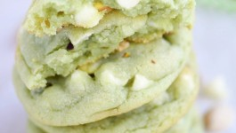 Pistachio and White Chocolate Pudding Cookies