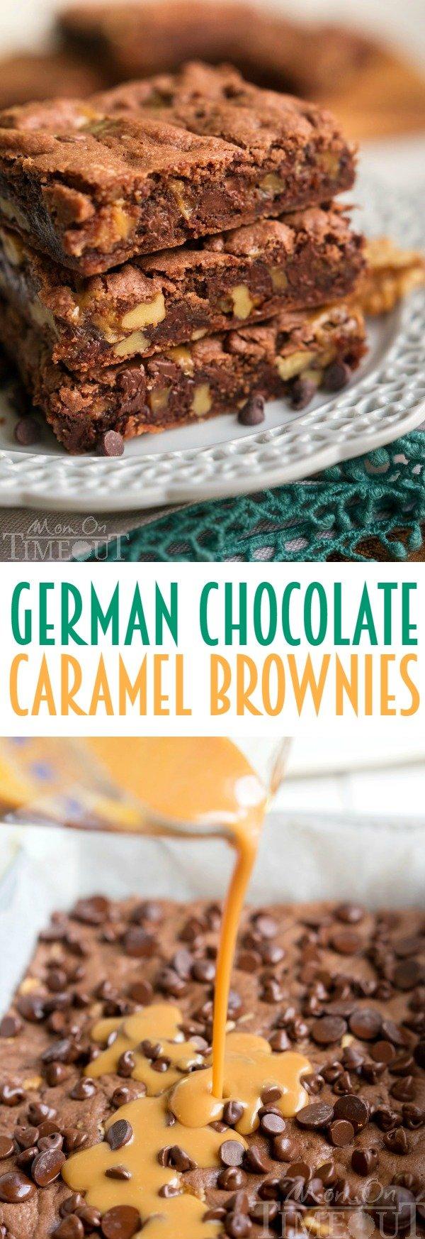 German Chocolate Caramel Brownies - Mom On Timeout